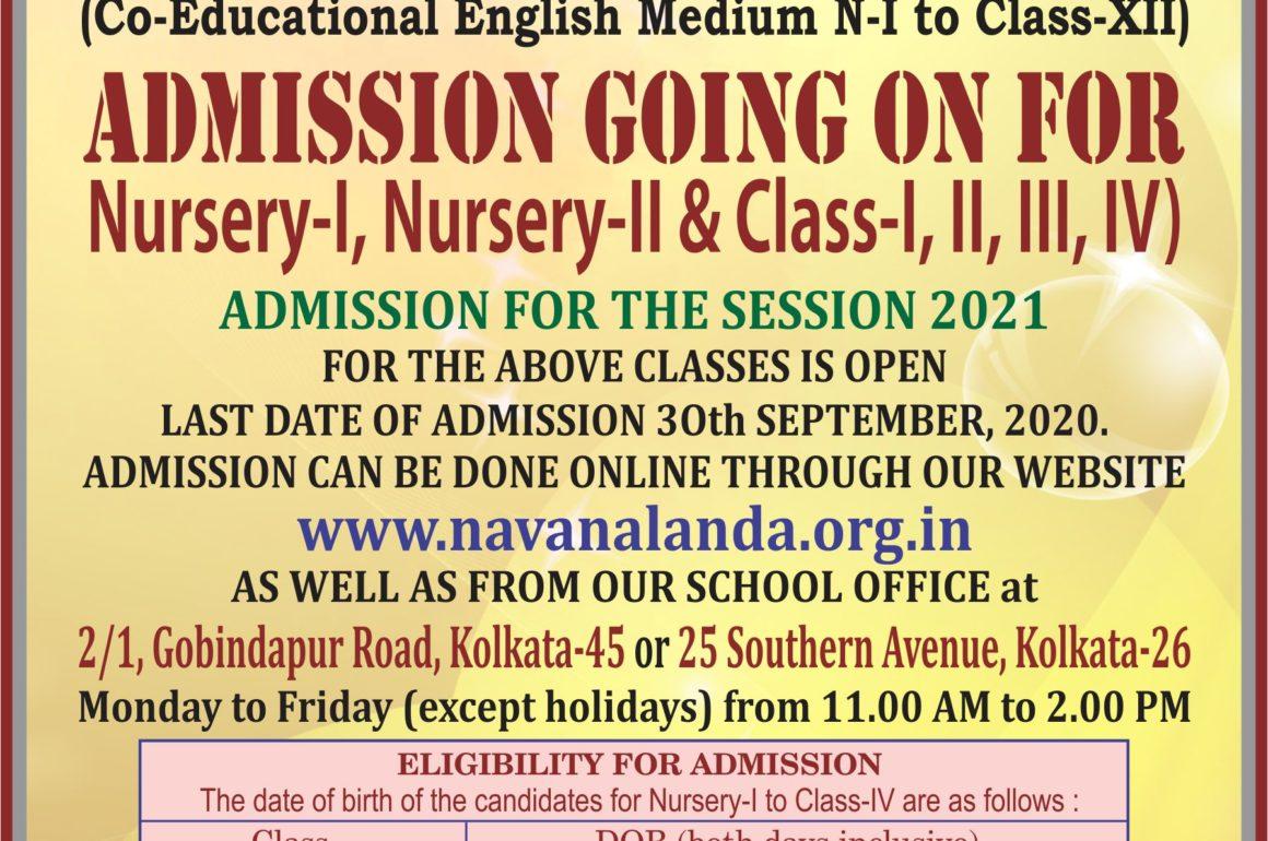 Admission Going on for N-I, N-II & Class-I, II, III, IV