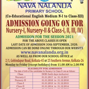 Admission Going on for N-I, N-II & Class-I, II, III, IV